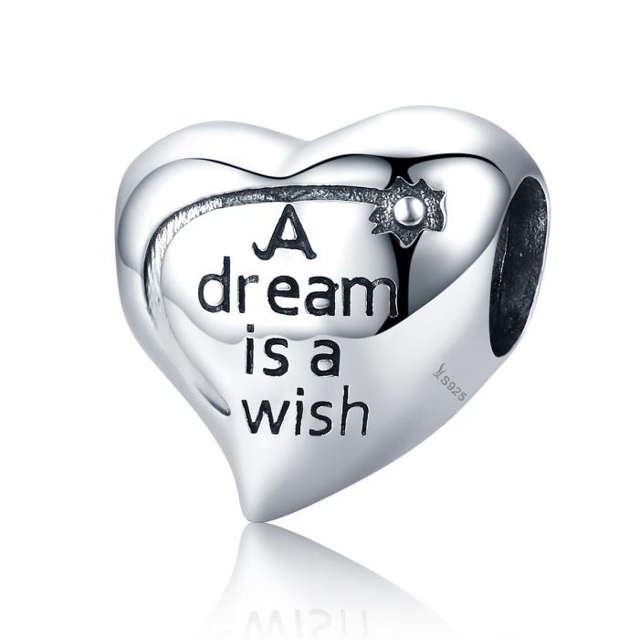 Charm argint 925 inimioara A Dream is a Wish - Be in Love PST0108 0