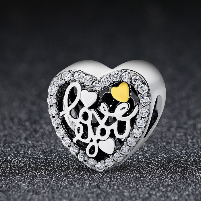 Charm argint 925 inimioara I LOVE YOU - Be in Love PST0048 1