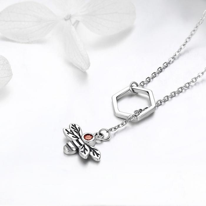 Colier argint 925 cu albinuta - Be Nature CST0009 2