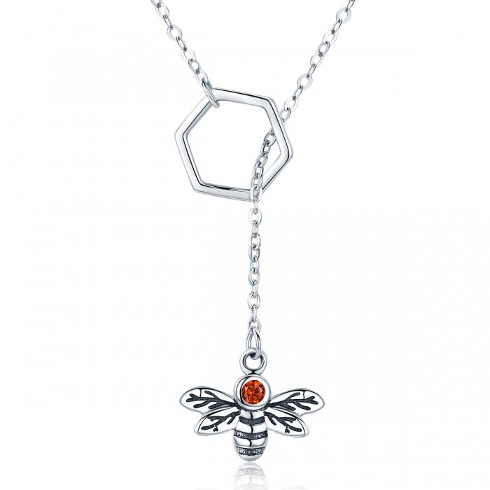 Colier argint 925 cu albinuta - Be Nature CST0009 0