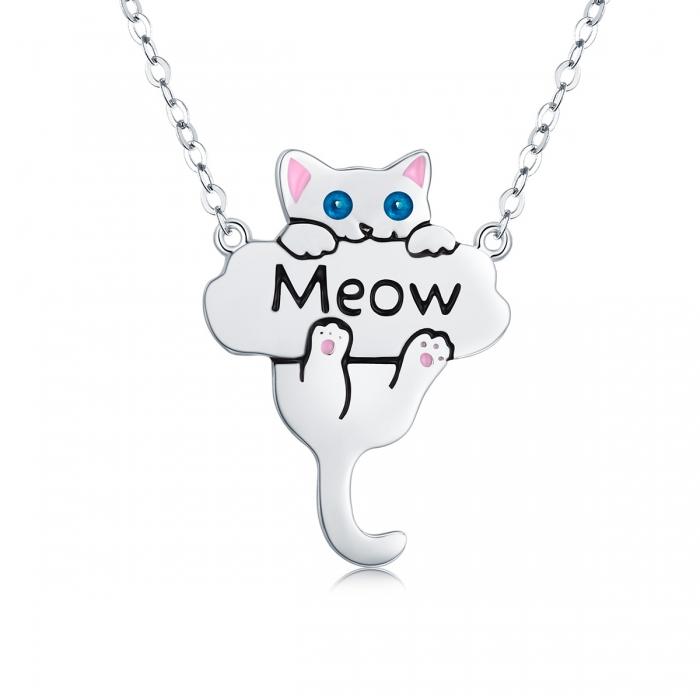 Colier argint 925 cu pisicuta jucausa Meow- Be Nature CST0013 0