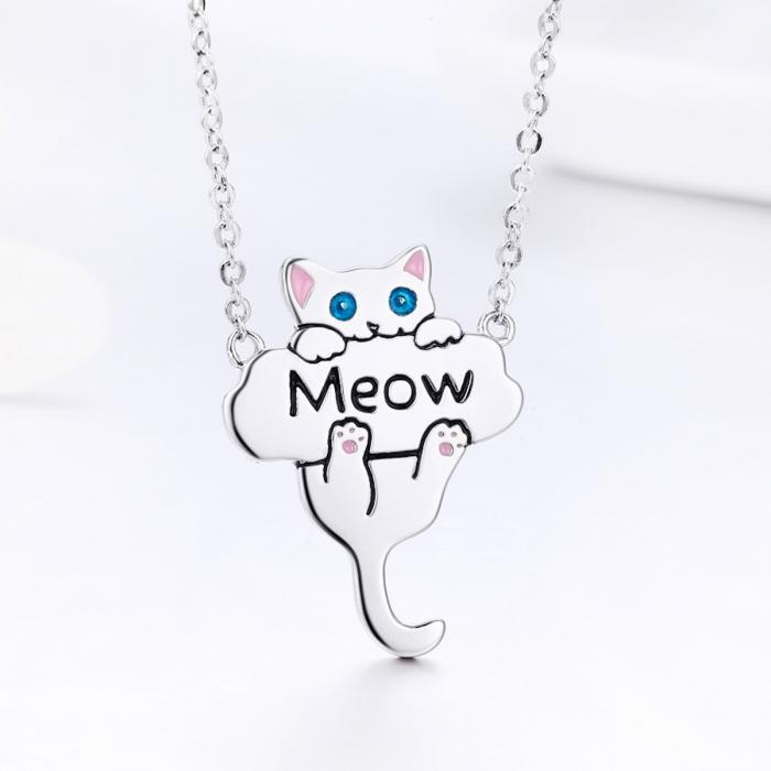 Colier argint 925 cu pisicuta jucausa Meow- Be Nature CST0013 3