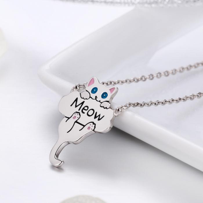 Colier argint 925 cu pisicuta jucausa Meow- Be Nature CST0013 1