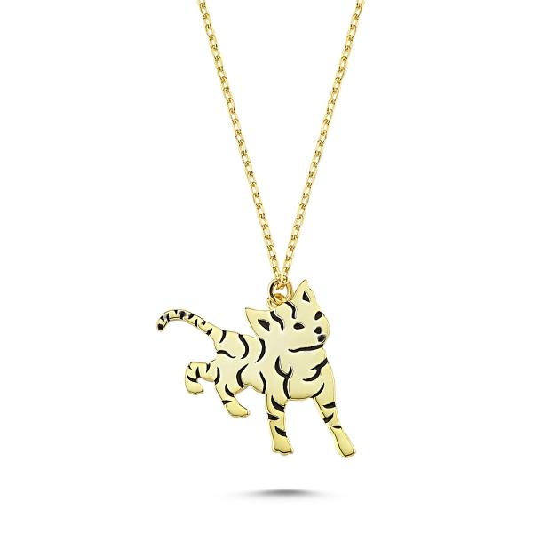 Colier argint 925 pisicuta placat cu aur - Be Nature CTU0093 0