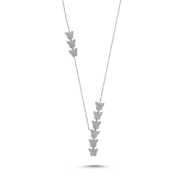 Colier argint 925 rodiat cu fluturasi - Be Nature CTU0072 0