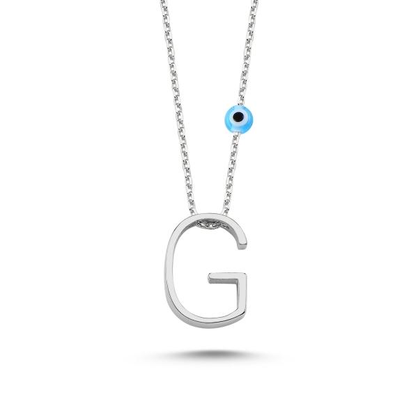Colier argint 925 rodiat cu litera G CTU0005 [0]