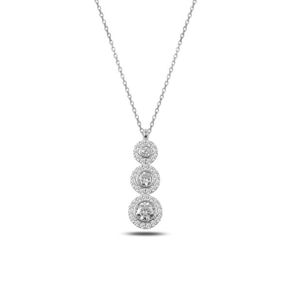 Colier argint 925 rodiat cu zirconii albe - Be Elegant CTU0064 0