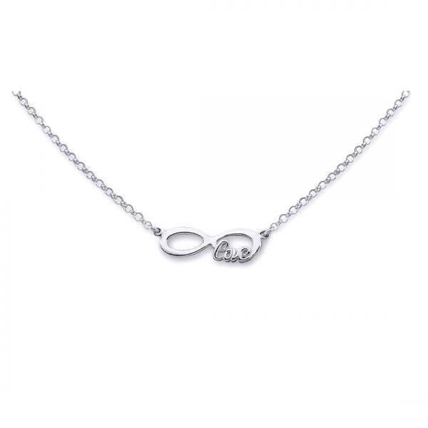 Colier argint 925 rodiat Love cu simbolul infinit - Infinite Love 0