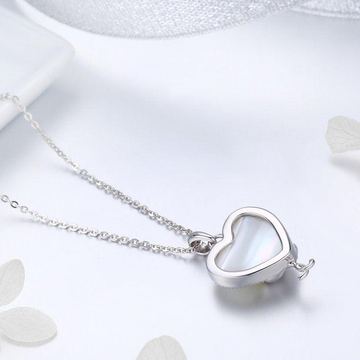 Colier argint cu  inimioara si pisicute indragostite 3