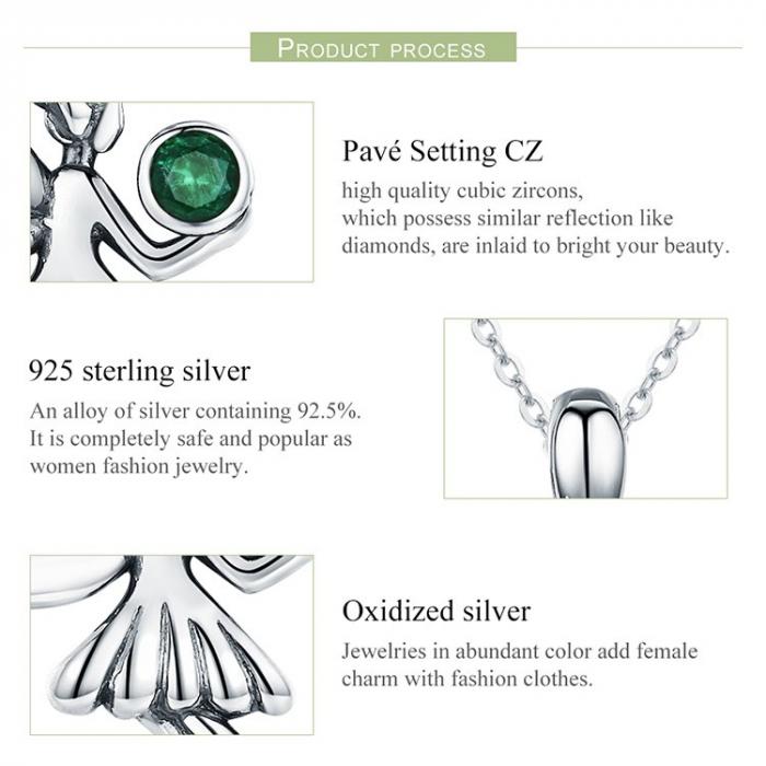 Colier argint cu Zana Padurii 8