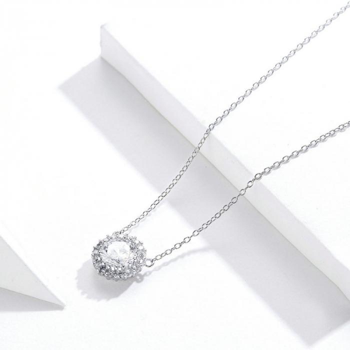 Colier argint cu zirconii [6]