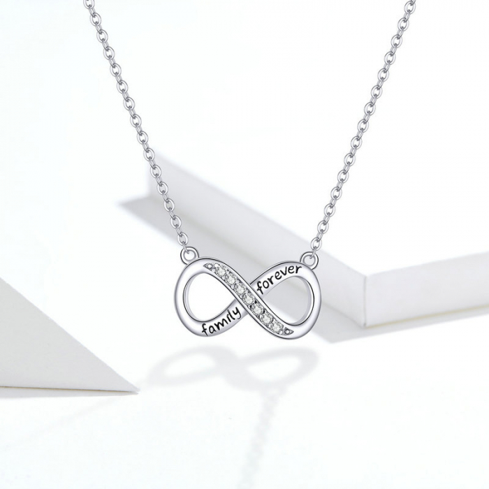 Colier argint Dragoste Infinita - family forever [7]