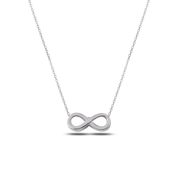 Colier argint infinit placat cu rodiu - CTU0100 0