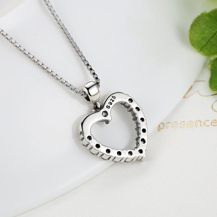 Colier argint inimioara cu zirconii [5]