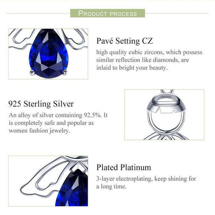 Colier argint reglabil cu ingeras 5