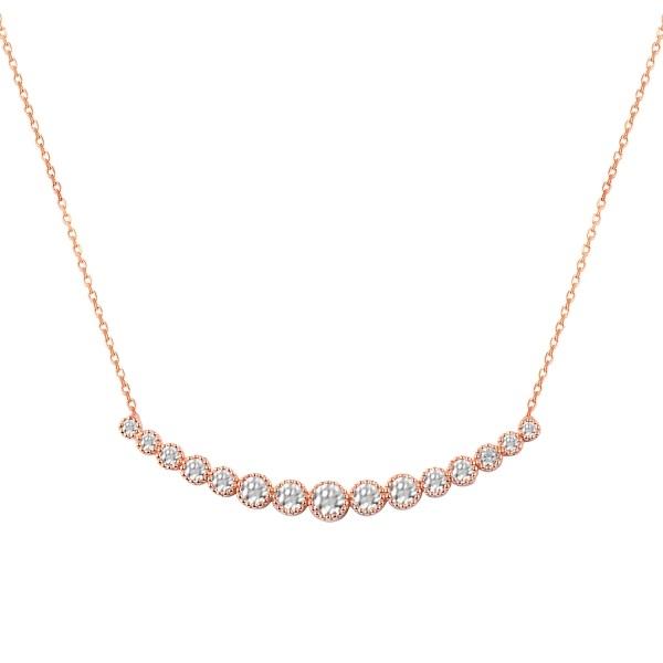 Colier argint tenis cu zirconii placat cu aur roz [0]