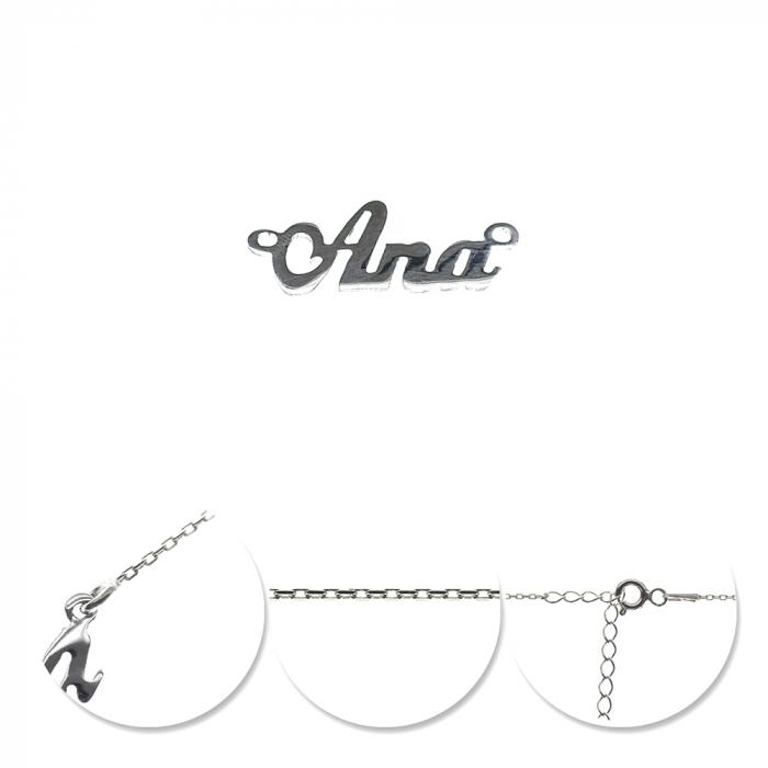 Colier din argint 925 personalizat Ana 0