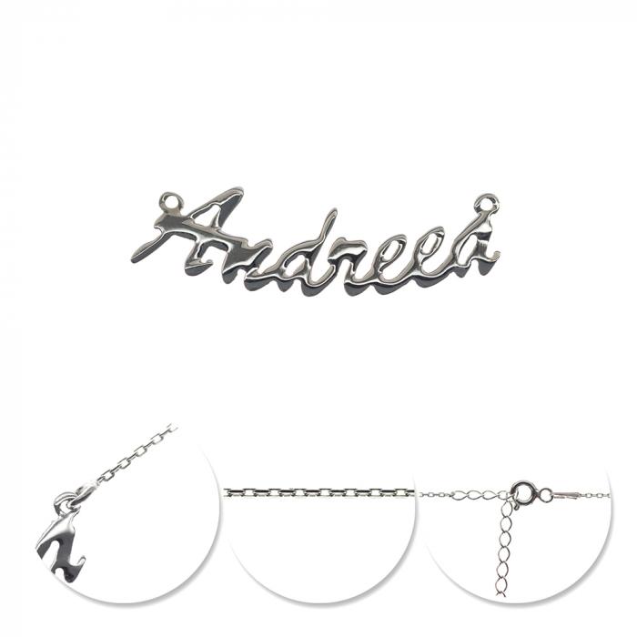 Colier din argint 925 personalizat cu nume Andreea [0]