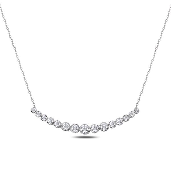 Colier tennis argint 925 rodiat cu zirconii albe - Be Elegant CTU0080 [0]