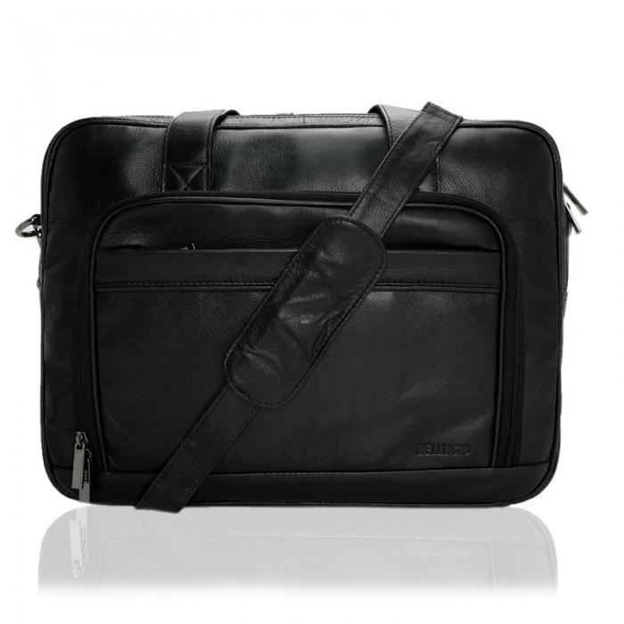 Geanta laptop din piele naturala de calitate GEAZ001 8
