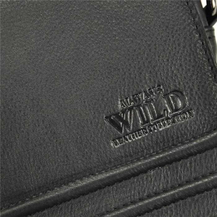 Geanta pentru umar din piele naturala Always Wild, Neagra 11