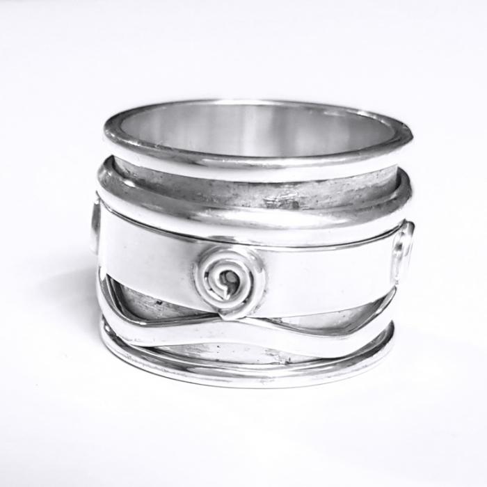 Inel argint 925 Antistres, Mantra 4