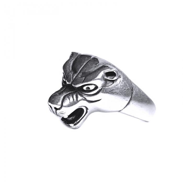 Inel argint 925 cap de pantera 2