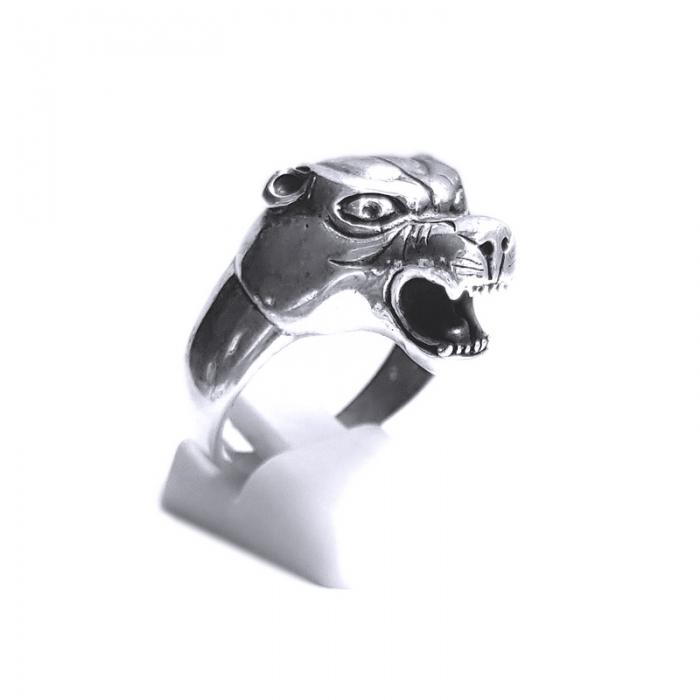 Inel argint 925 cap de pantera 3
