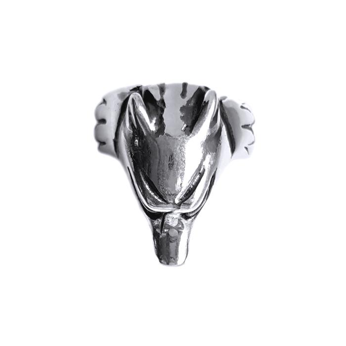Inel argint 925 cap de lup 1