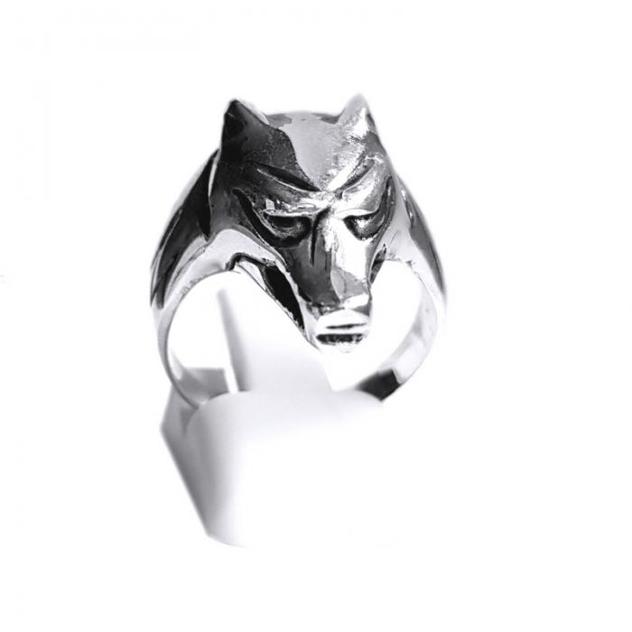Inel argint 925 cap de lup 0