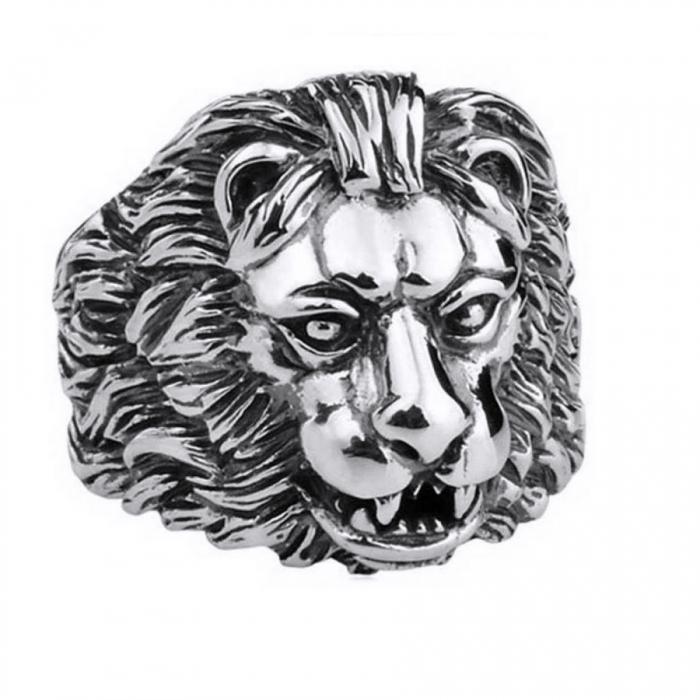 Inel argint 925 cu cap de leu, Aslan 0