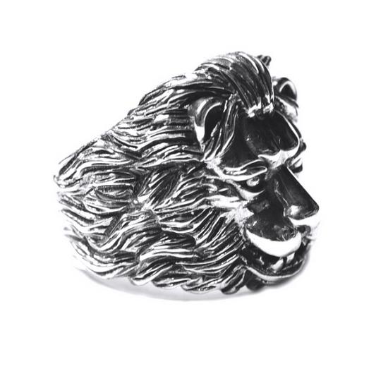 Inel argint 925 cu cap de leu, Aslan 1