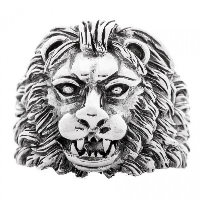 Inel argint 925 cu cap de leu, Aslan 3