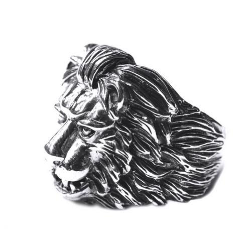 Inel argint 925 cu cap de leu, Aslan 2