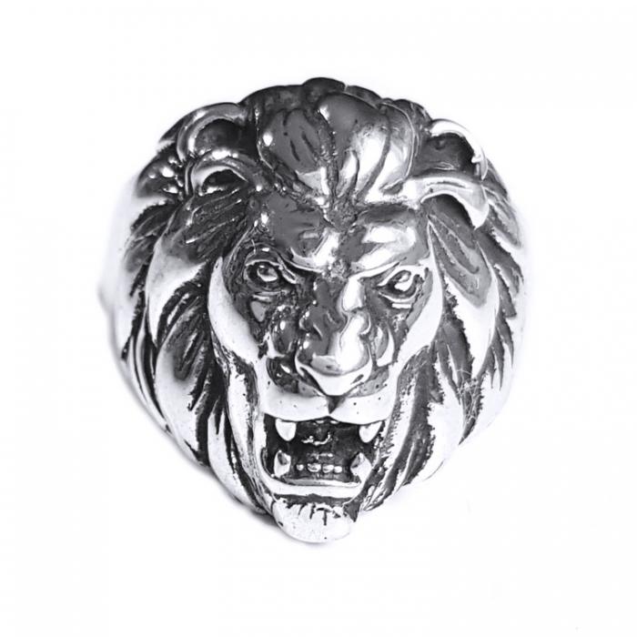 Inel argint 925 cu cap de leu, Leon 0