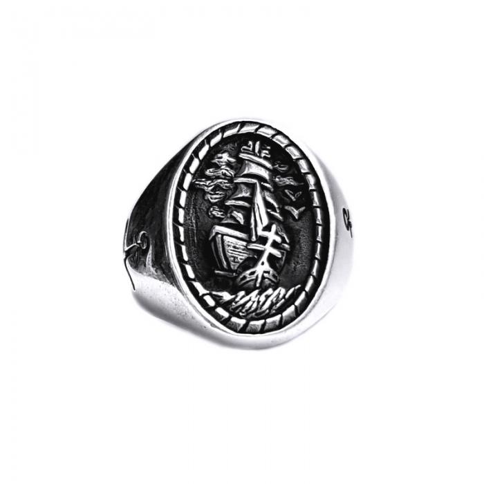 Inel argint 925 cu corabie 0