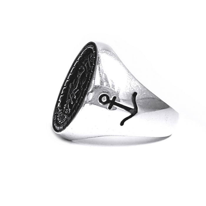 Inel argint 925 cu corabie 1
