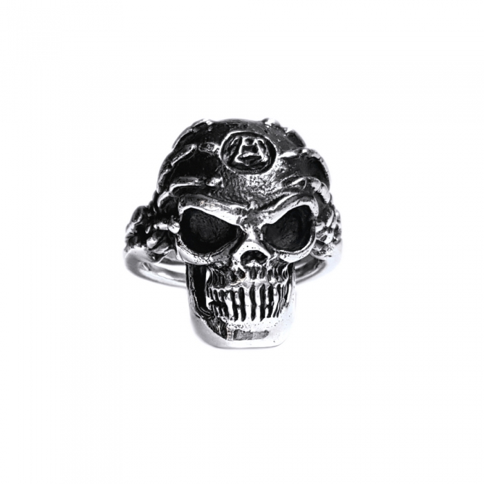 Inel argint 925 cu craniu, Hard rock 0