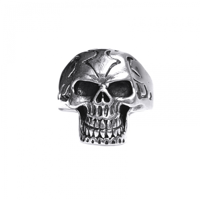 Inel argint 925 cu craniu 0