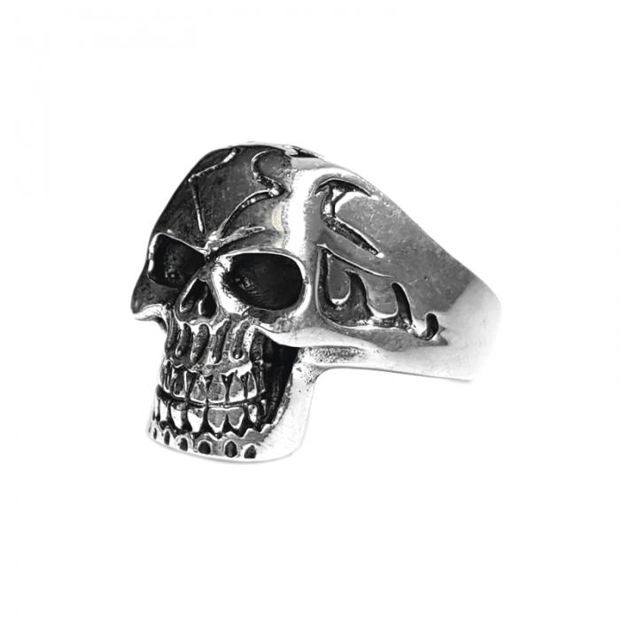 Inel argint 925 cu craniu 2