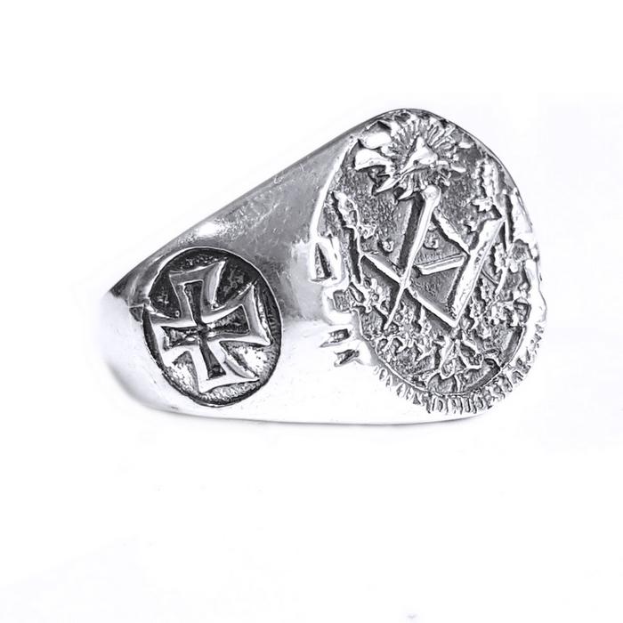 Inel argint 925 cu cruce si simboluri malteze , Ritual 1