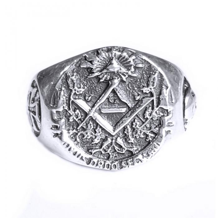 Inel argint 925 cu cruce si simboluri malteze , Ritual 0