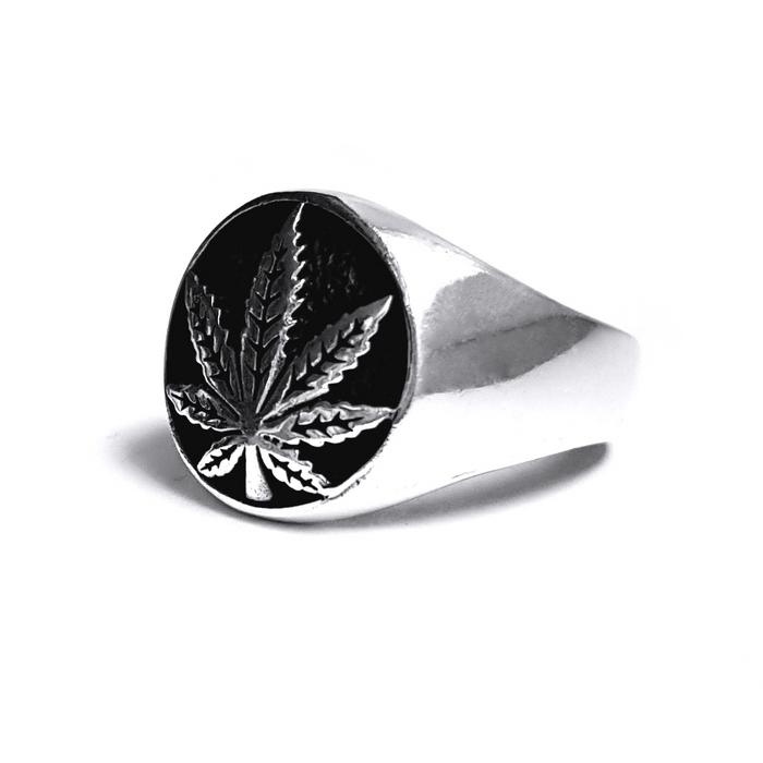 Inel argint 925 cu frunza de marijuana, Rebel Soul 1