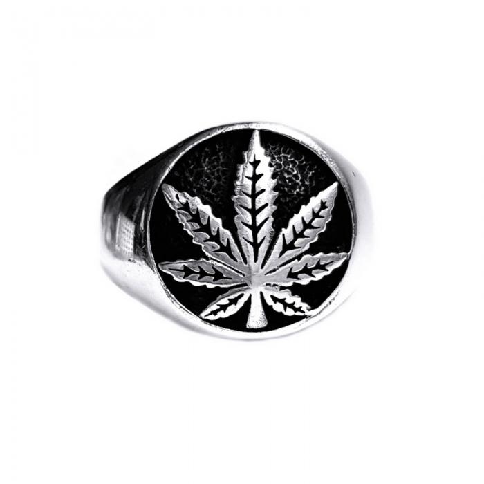 Inel argint 925 cu frunza de marijuana, Rebel Soul 0