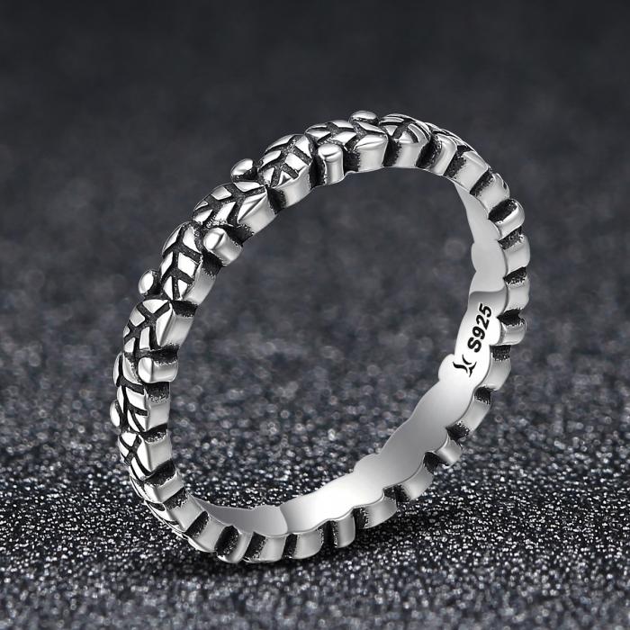 Inel argint 925 cu frunze si aspect vintage - Be Authentic IST0033 1