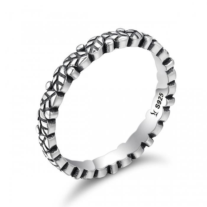 Inel argint 925 cu frunze si aspect vintage - Be Authentic IST0033 0