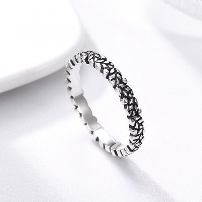 Inel argint 925 cu frunze si aspect vintage - Be Authentic IST0033 2