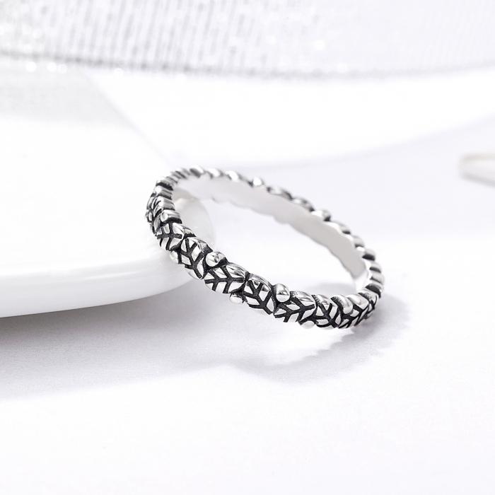 Inel argint 925 cu frunze si aspect vintage - Be Authentic IST0033 3