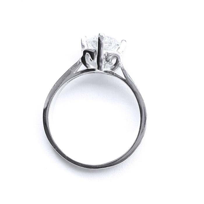 Inel argint 925 rodiat cu zirconiu alb [1]