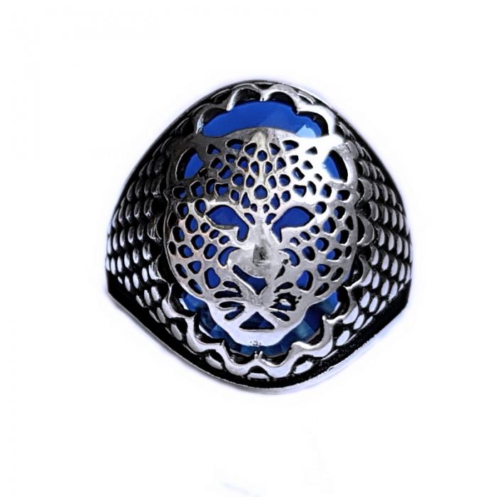 Inel argint 925 cu jaguar si zirconiu 0